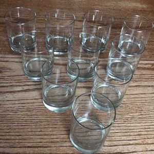 Set of 10 high ball old fashioned cocktail glasses